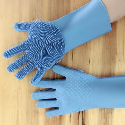 Hand Scrubber Gloves (Random Color)