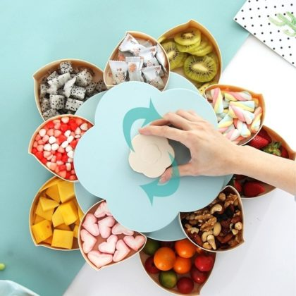 Flower Rotating Candy Storage Box (2199 + 200 Delivery Charges)