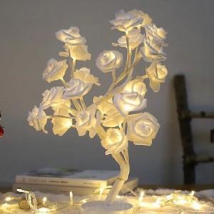 White Flower Tree Stand Light
